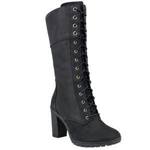 "Timberland Glancy 10"" lace up Black Nubuck boots"